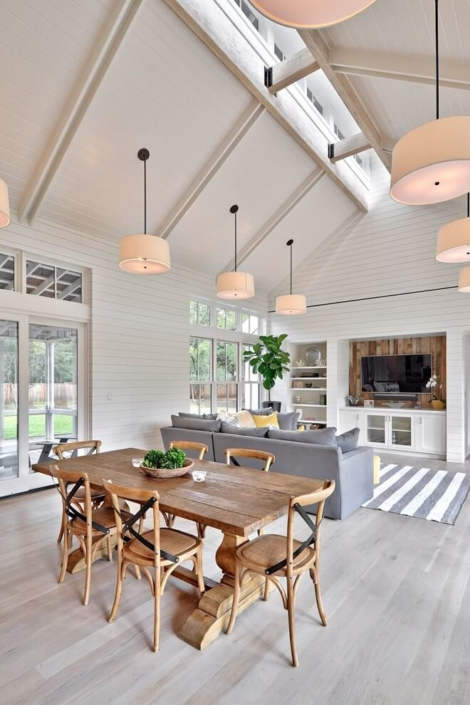 Simply farmhouse dining table and chairs
