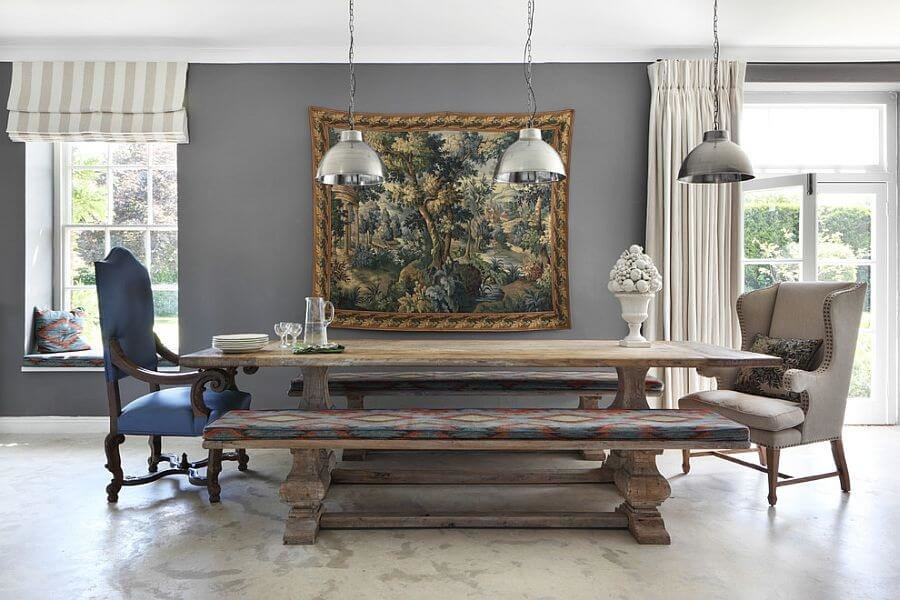 Timeless rustic dining room wall art
