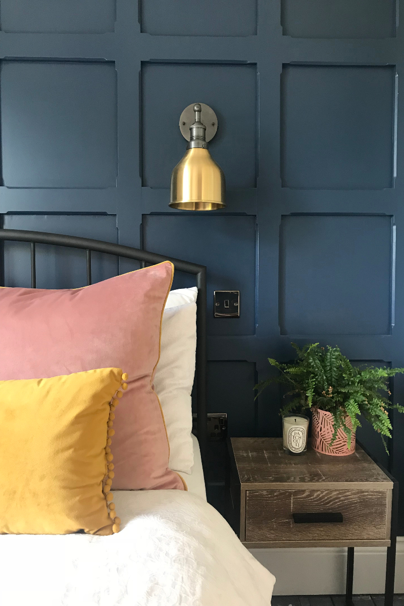 Bedroom With Painted Panelling