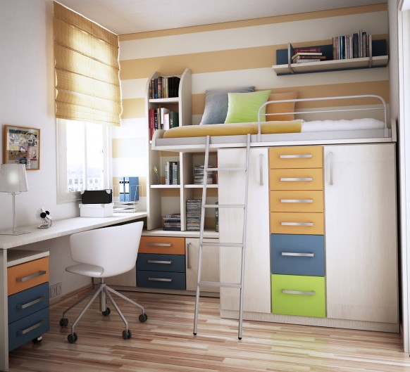 Architecture Art Designs Space Saving Ideas for Small Kids Rooms