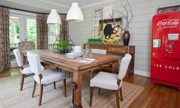 Creative modern farmhouse dining room