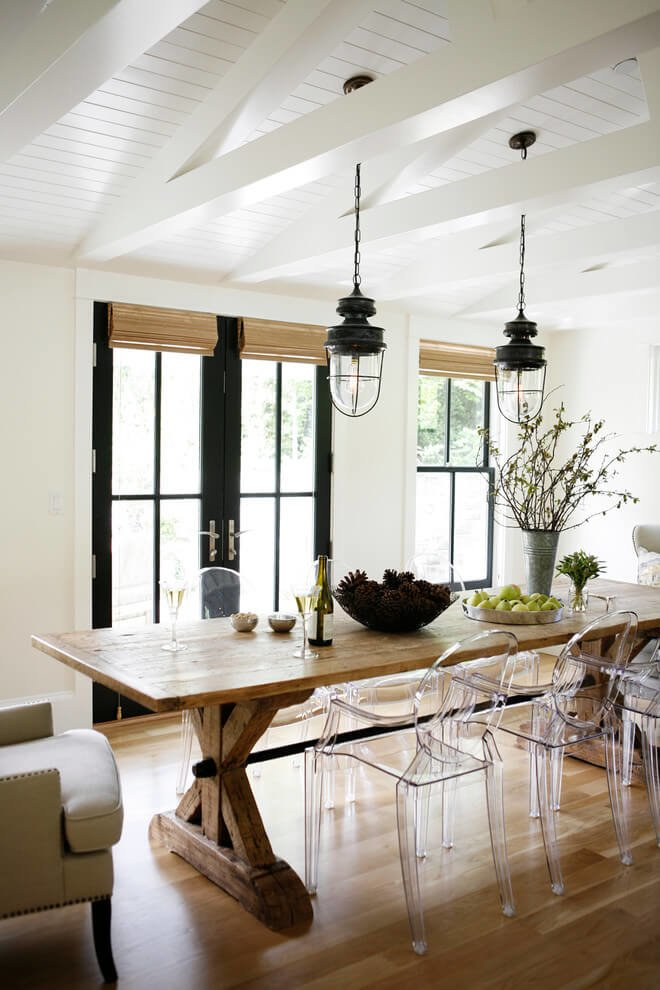 Unique farmhouse dining table and chairs