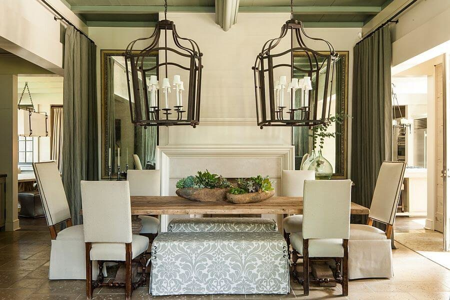 Creative rustic chic dining room ideas