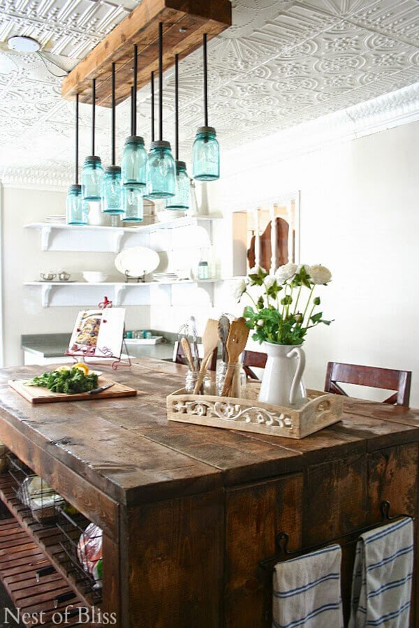 Creative farmhouse dining room table