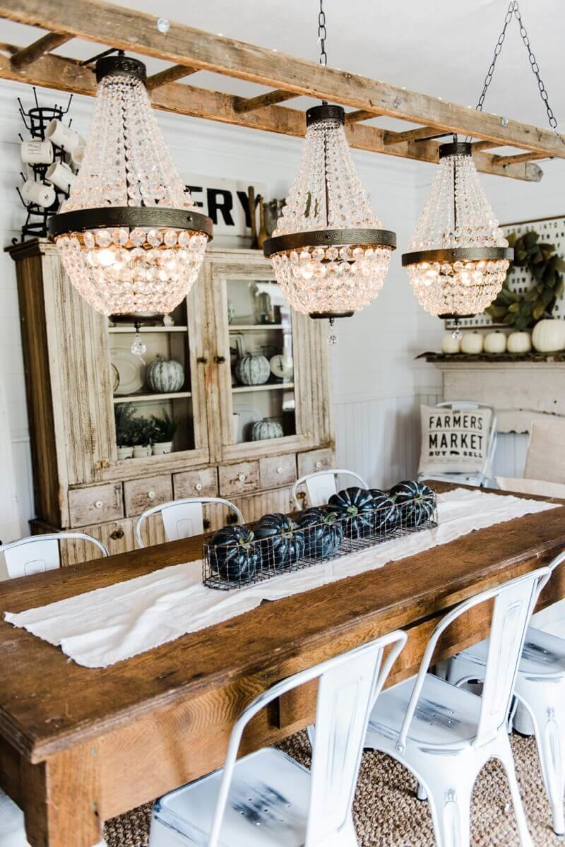 Timeless farm style dining table