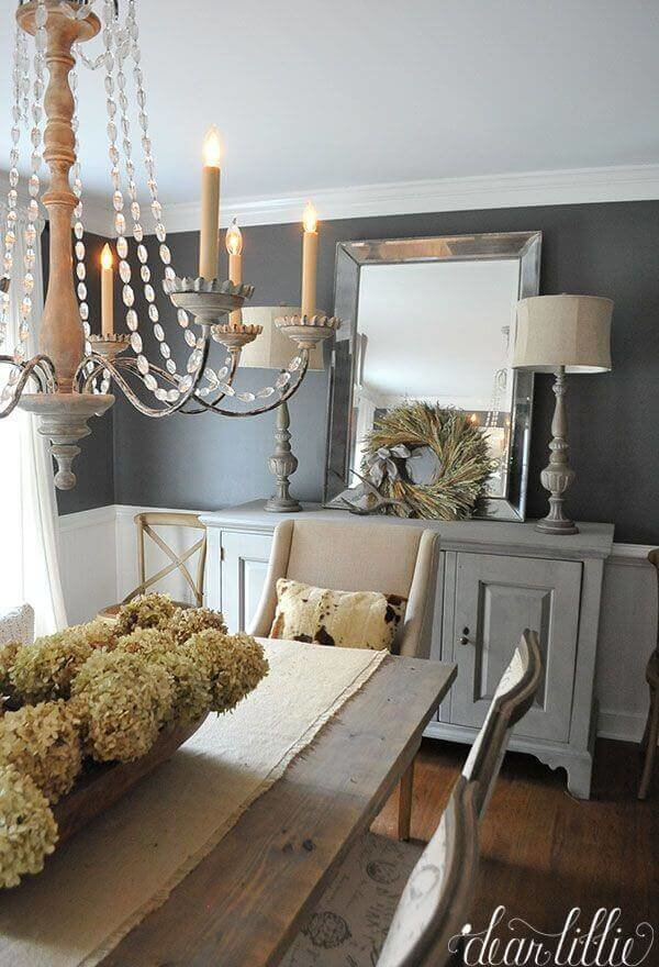 Adorable rustic dining room wall décor