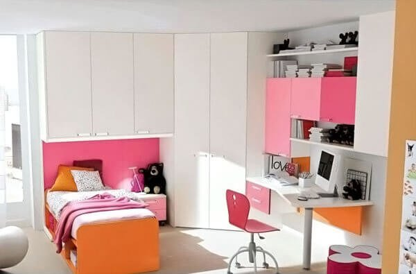 Feminine girls bedroom ideas for small rooms